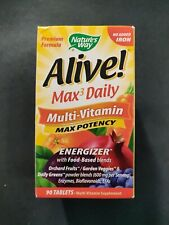 Nature's Way Alive Max3 Daily Multi-Vitamin Max Potency 90 Tablets
