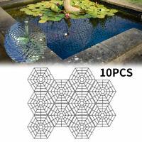 10pcs Fish Guard Grid Plastic Floating Net Pond Protector Cats Deterrent Tools