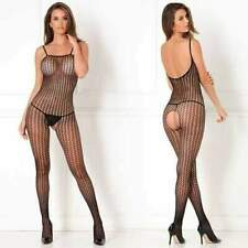 96d09879816 Quarter Crochet Net Bodystocking 7002x Rene Rofe Black One Size Fits All -  Queen