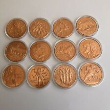 12 Labors of Hercules Set of 1 oz .999 Copper Rounds Limited and Rare