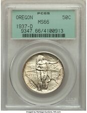 1937-D OREGON PGCS MS-66 Green Tag  - Silver Comm - ORIGINAL LOOK - kks