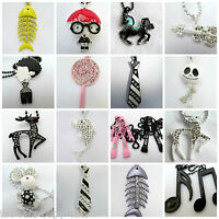 15+ DESIGNS URBAN HIPHOP FASHION NECKLACES MUSICAL NOTE TIE FISH GUITAR HORSE