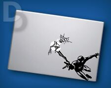 Spiderman Flying Macbook decal Apple Laptop sticker / tattoo stencil decal