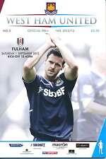 West Ham / Fulham 2012/13 programa Mint