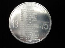 1975 Kessler New York Giants Football Schedule Coin