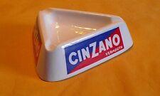 "VINTAGE 60s "" CINZANO VERMOUTH ASHTRAY ""  ADVERTISING ,  WHITE GLASS "" ITALY """