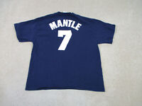Majestic New York Yankees Shirt Adult Extra Large Mickey Mantle Baseball Mens *