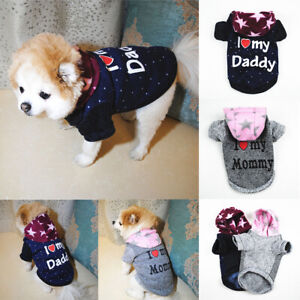 Soft Fleece Dog Jumpsuit Winter Small Puppy Coat Pet Outfits Hoodie Dog Clothes