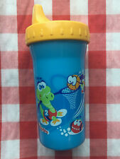 Vintage Playtex Toddler Baby Sipster Sippy Cup Blue Yellow 2004 Dinosaurs Sports