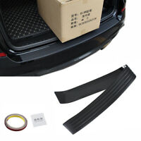 Black JDM Rear Bumper Rubber Pad Kit Guard Sill Plate Trunk Protector Trim.Cover