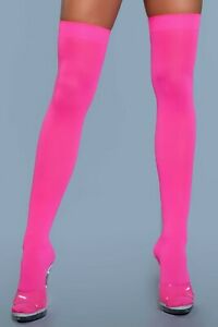 NWT sexy BE WICKED opaque BANDED top THIGH highs STOCKINGS nylons PANTYHOSE hose