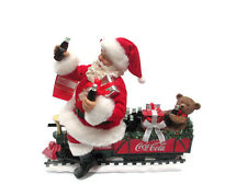 Coca-Cola  Kurt Adler 2017 Fabriche Santa Train with teddy bear- BRAND NEW