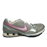 Nike Shox TG Running Shoes Womens Size 11 Gray White Sneakers NO INSOLES 318667