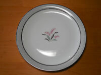 """Noritake LILYBELL 5556 Dinner Plate 10 3/8"""" Grey Pink 1 ea       9 available"""
