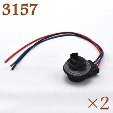 T25 3157 3457 LED Bulb Socket Plug Brake Turn Signal Harness Wire Pig Tail 30cm