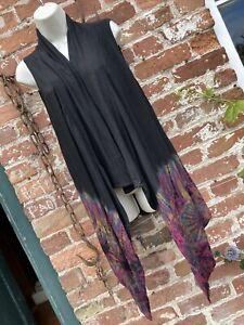 Ladies long tie dye waistcoat/dress hippie/festival/boho/alternative free size