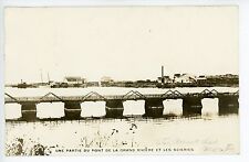 Sainte Anne des Monts QUEBEC Rare RPPC Antique Photo CPA Gaspe—Bridge 1923