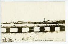 Sainte Anne des Monts QUEBEC Rare RPPC Antique Photo CPA Gaspe—Bridge 1923