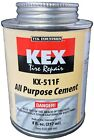 Kex Cold Vulcanizing Rubber Tire Cement and Tube Patch Plug Repair Glue 8oz can