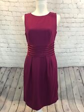 Banana Republic Wool Blend Rose Pink Classic Sleeveless Dress Sz 6 $109.99