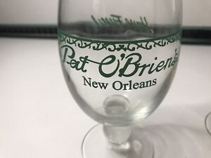 Pat O'Brien's New Orleans Have Fun Hurricane Vintage Retro Cocktail Drinks Glass