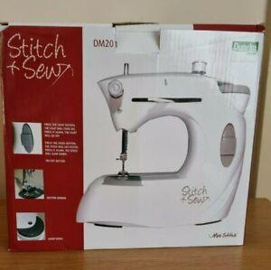 Switch & Sew Mini Sew Machine - Good Condtion- Tested & Working - Dunelm - White
