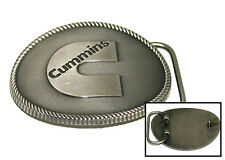 "Cummins Diesel Engines Dodge Trucks Heavy Duty Metal Cowboy ""C"" Logo Belt Buckle"
