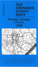 OLD ORDNANCE SURVEY MAP FORMBY CROSBY BOOTLE LUNT MAGHULL SEAFORTH SEFTON 1896