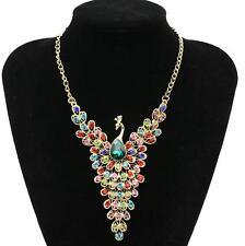 Pendants Betsey Johnson jewelry Peacock Full Rhinestone Golden Chain Necklaces