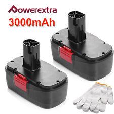 2 Pcs 19.2V Volt 3.0Ah Battery For Craftsman C3 11375 130279005 Cordless Drills