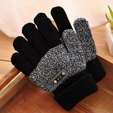 Boys Kids Warm Knitted Gloves Winter Thick Full Mitten Finger Protector Hot vfg