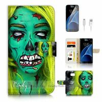 ( For Samsung Galaxy S7 ) Case Cover P4029 Zombie Girl