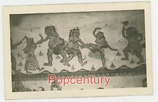 1930 RPPC Postcard Bali Indonesia Wall Paintings Carvings Ceremony Real Photo