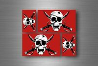4x sticker flag car motorcycle decal bumper vinyl adhesive pirate crimson