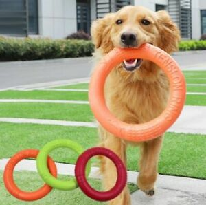 Dog Flying Discs Puppy Training Ring Puller Resistant Bite playing Toy Pet Game