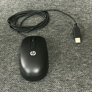 Brand New! Genuine HP Wired SM-2022 Black USB Optical Mouse