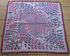 T. joli grand foulard vintage Mayerline twill soie  silk scarf  TBE