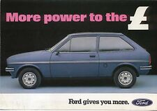 Ford Fiesta MK 1 1300 L 1981 original del Reino Unido Folleto de ventas Pub. no. FA524