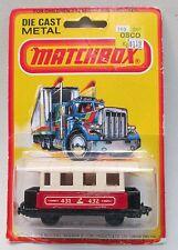 1980 Matchbox #44 PASSENGER COACH Railroad Car Superfast factory sealed card