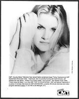 ~ Trisha Yearwood Original 1990s CMT Promo Portrait Photo Country Music