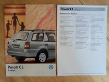 VOLKSWAGEN BRAZIL PARATI CL orig 1998-99 Glossy Sales Brochure + Specs - VW