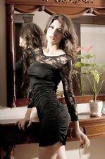 SEXY GOGO Fashion Mini Dress With G-String Black