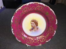 Exquisite 1953 Coronation Plate Queen Elizabeth II New Chelsea.