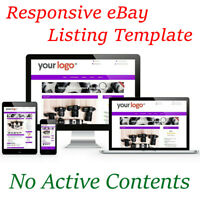 eBay Listing Templates Auction HTML Professional Responsive Mobile Design HTTPS
