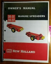 New Holland 510 511 516 517 Manure Spreader Owners Operators Manual 865