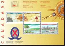 Canada MNH 1992 souvenir sheet sc# 1407a Canada 92 Youth Philatelic Exhibition
