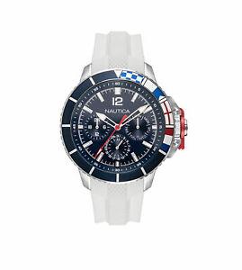 Nautica Men's NAPBHP902 Bay Ho 46mm Blue Dial Silicone Watch