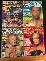 Star Trek Voyager Magazine Lot 1,2,3 And 4