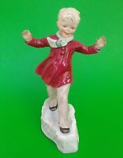 Vintage Royal Worcester Figure JANUARY 3452 by Freda Doughty dated 1950