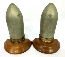 Vintage Us Army Trench Art Artillery Book Ends